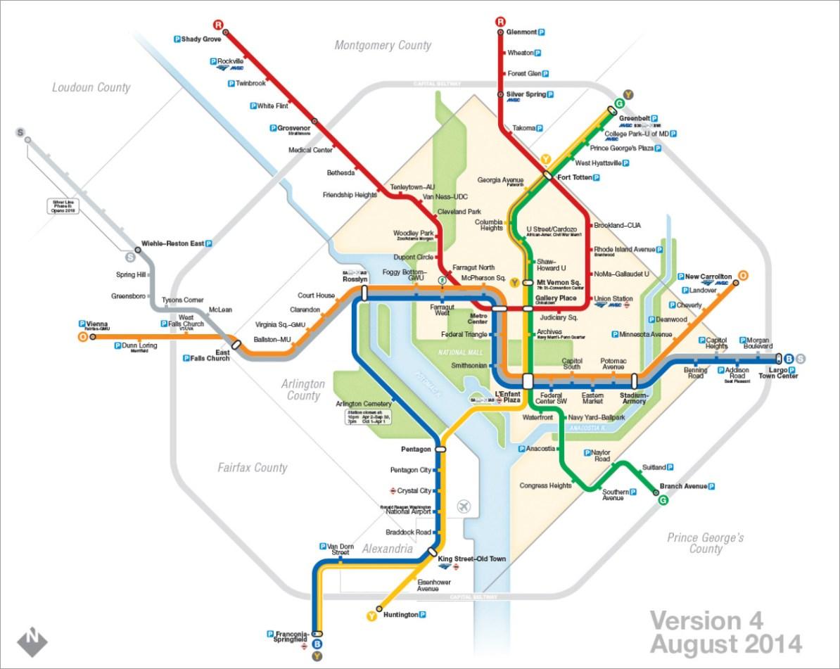 Transit Maps The Evolution Of My Washington Dc Metro Map