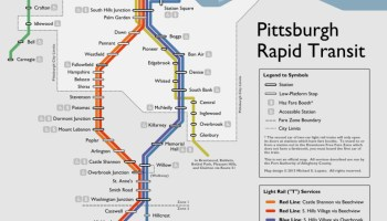 Pittsburgh T Subway Map.Transit Maps Submission Official Map Pittsburgh Light Rail