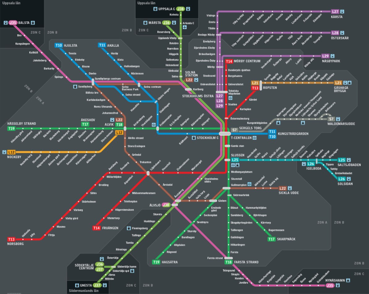 Transit Maps: Submission – New Rail Transit Map for Stockholm ...