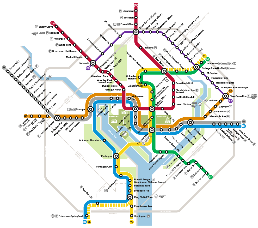 Dc Metro Map 2020 Transit Maps: How Should the Purple Line Appear on the Washington