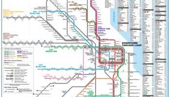 Cta Subway Map Chicago.Transit Maps Behind The Scenes Evolution Of The Chicago Cta Rail