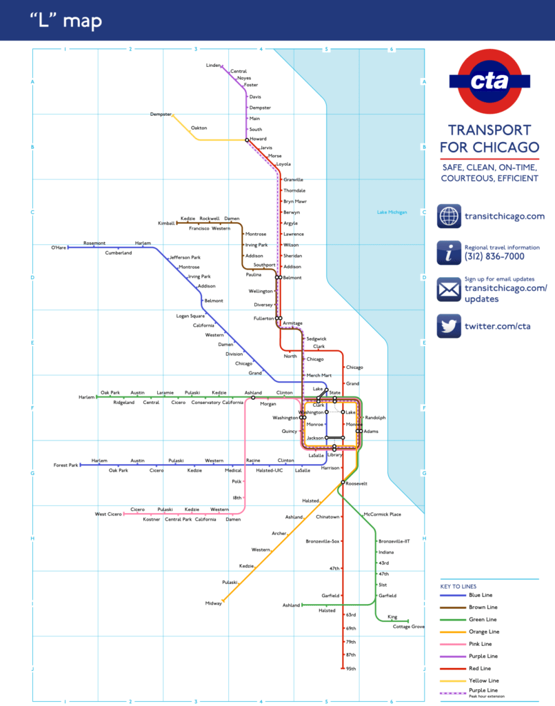 """Transit Maps: Unofficial Map: Chicago """"L"""" as the London Underground ..."""