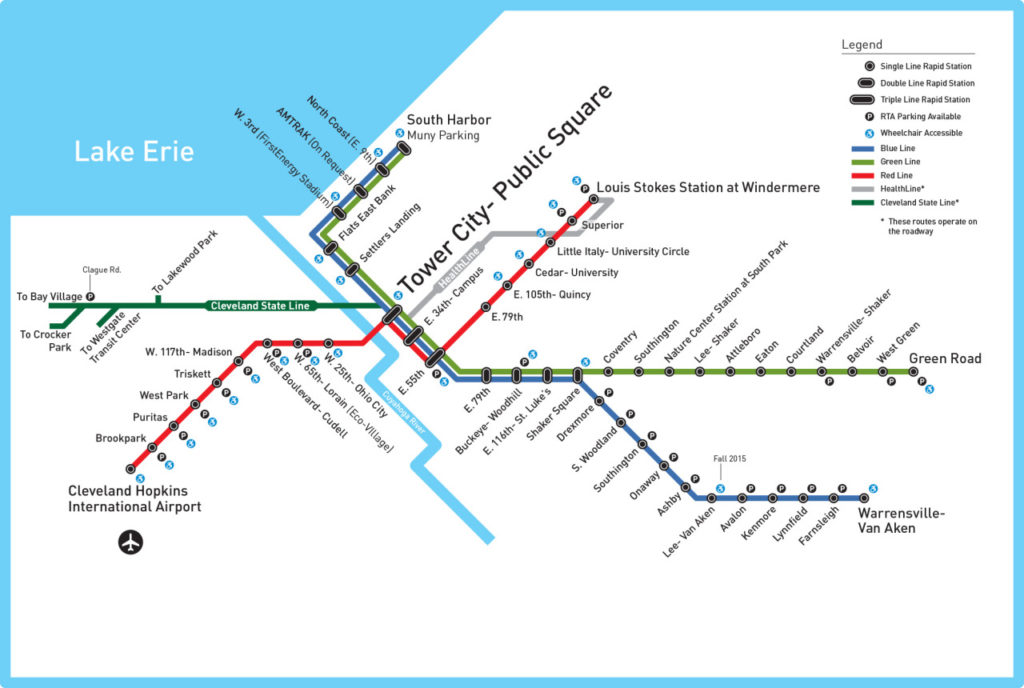 Transit Maps: Submission – Official Map: Rapid Transit of Cleveland on