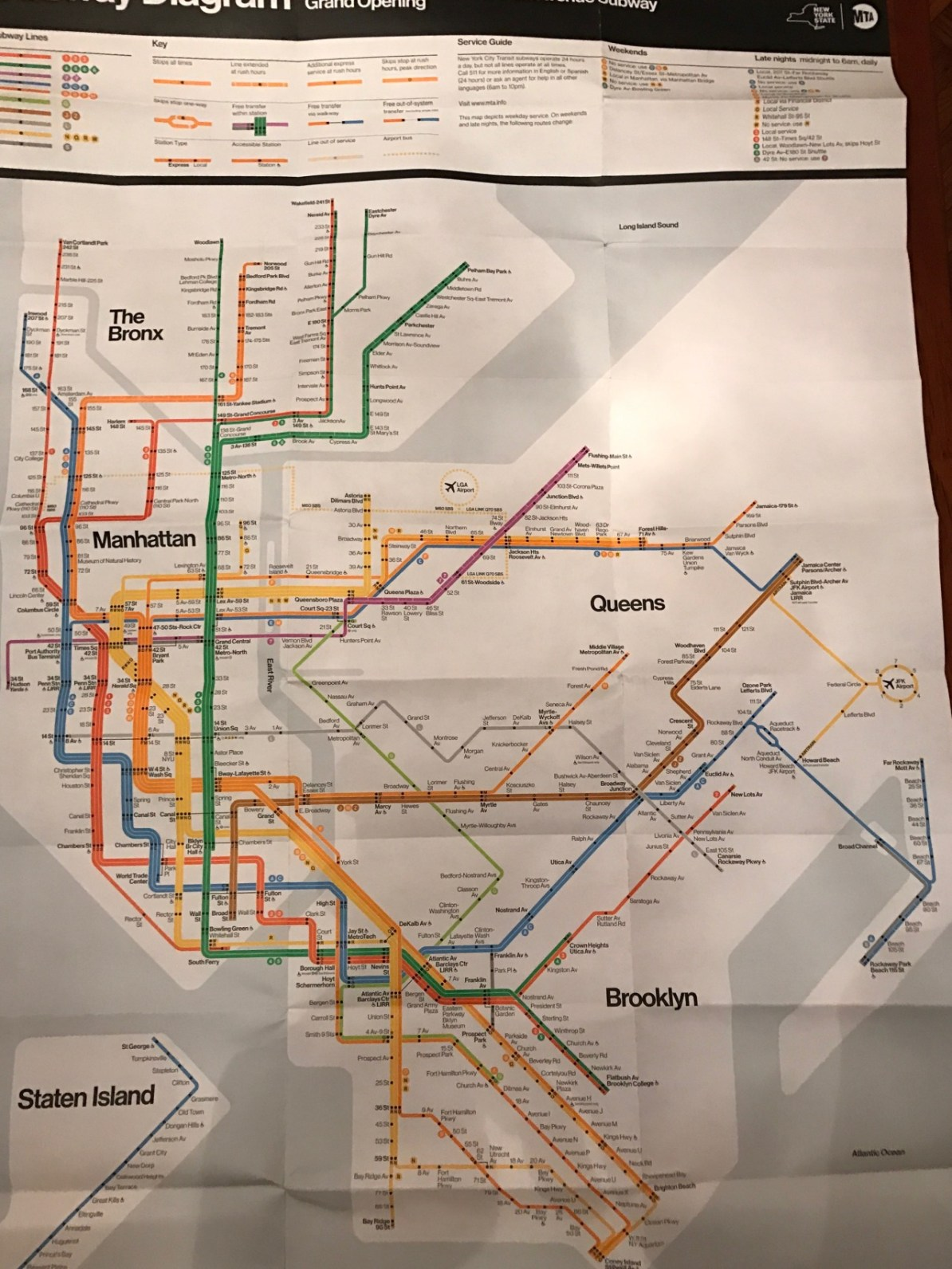Vignelli Subway Map Pdf.Transit Maps Official Map Commemorative Second Avenue Subway