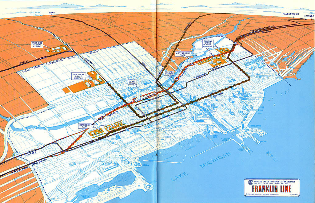 Transit Maps: Historical Map: Proposed Franklin Street Subway Line on