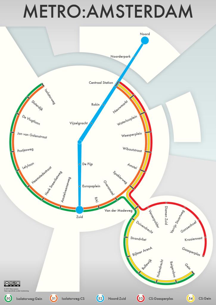 Subway Map Of Amsterdam.Transit Maps