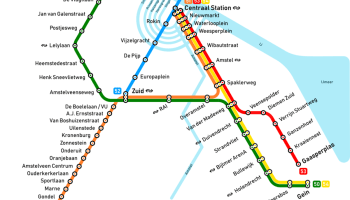 Transit Maps Unofficial Future Map Amsterdam Metro Time Diagram