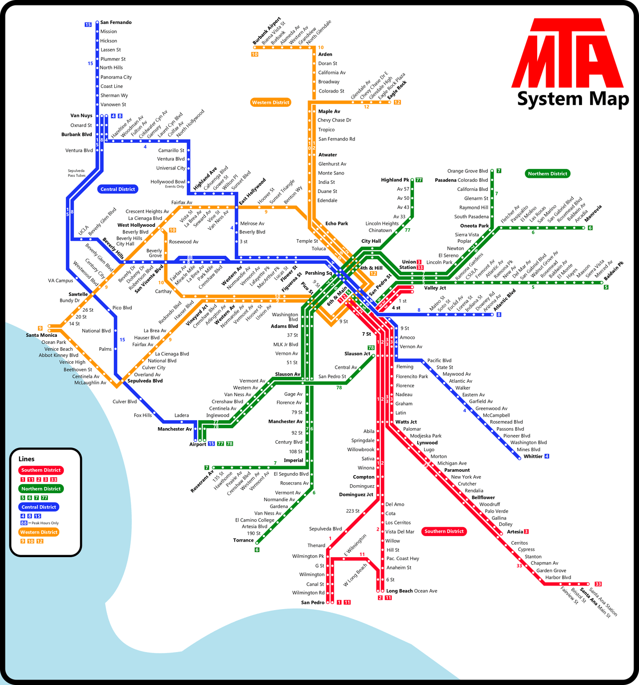 Map Of Julian California.Transit Maps Submission Fantasy Map Pacific Electric Modern Day