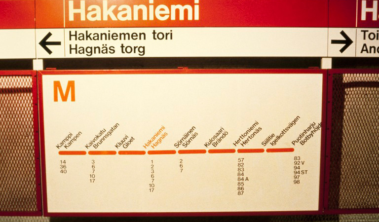 Transit Maps Submission Helsinki Metro Map 1982 Versus Current Map