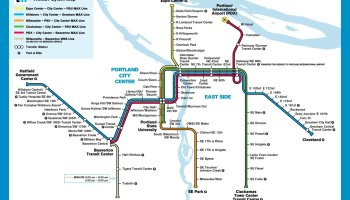 Transit Maps: Official Yet Unofficial Map: TriMet System Map in the on