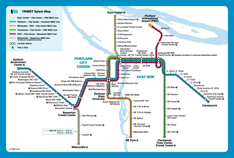Muni Subway Map.Transit Maps Mash Up Map Trimet Max In The Style Of Bart