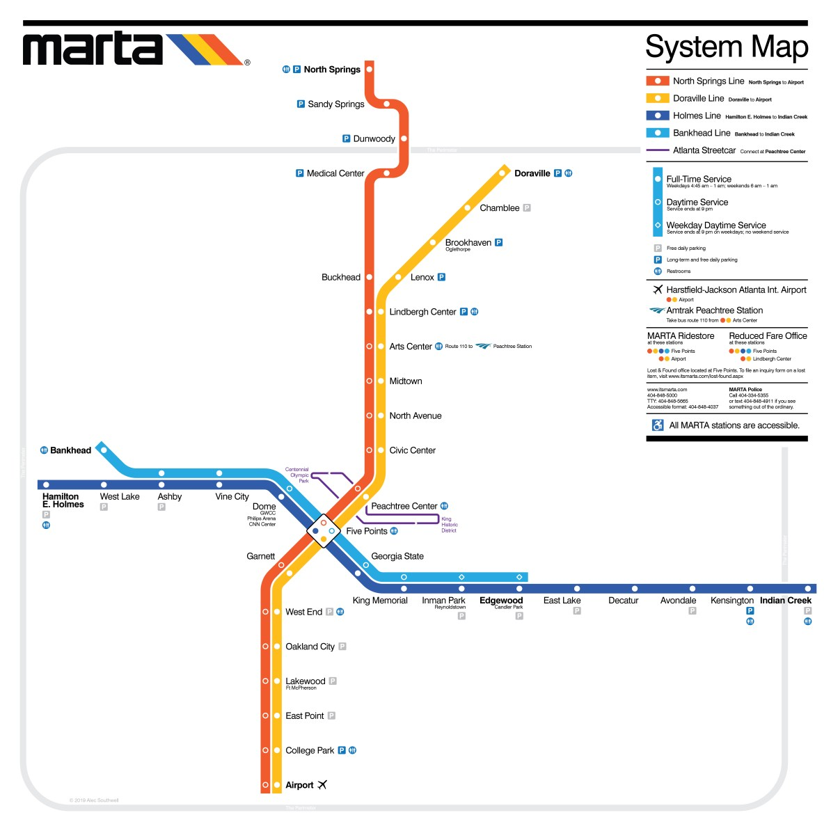 Transit Maps Submission Unofficial Map Marta Rail Atlanta