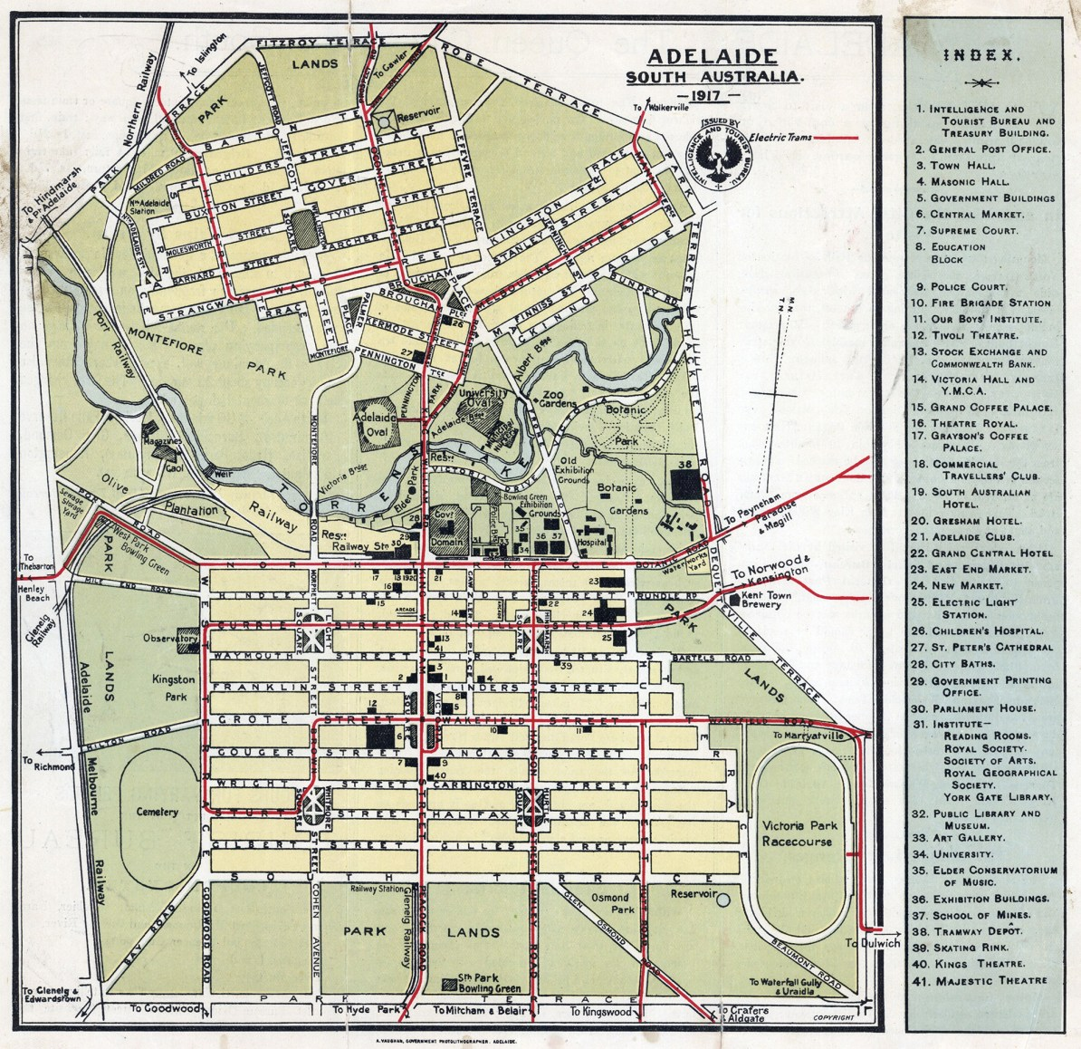 Map Of Adelaide Australia.Transit Maps Historical Map Tourist Map Of Adelaide South