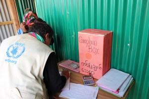 Rohingya complaint box