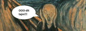 """Fragment obrazu """"Krzyk"""" Edwarda Muncha"""