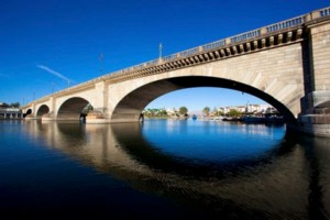 The London Bridge today, in Lake Havasu City, Arizona
