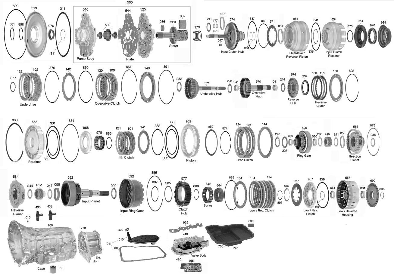 45rfe Transmission Parts Diagram Transmission Parts Online