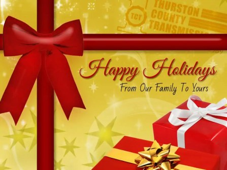 Happy Holidays from Olympia's Best Auto Repair Company!