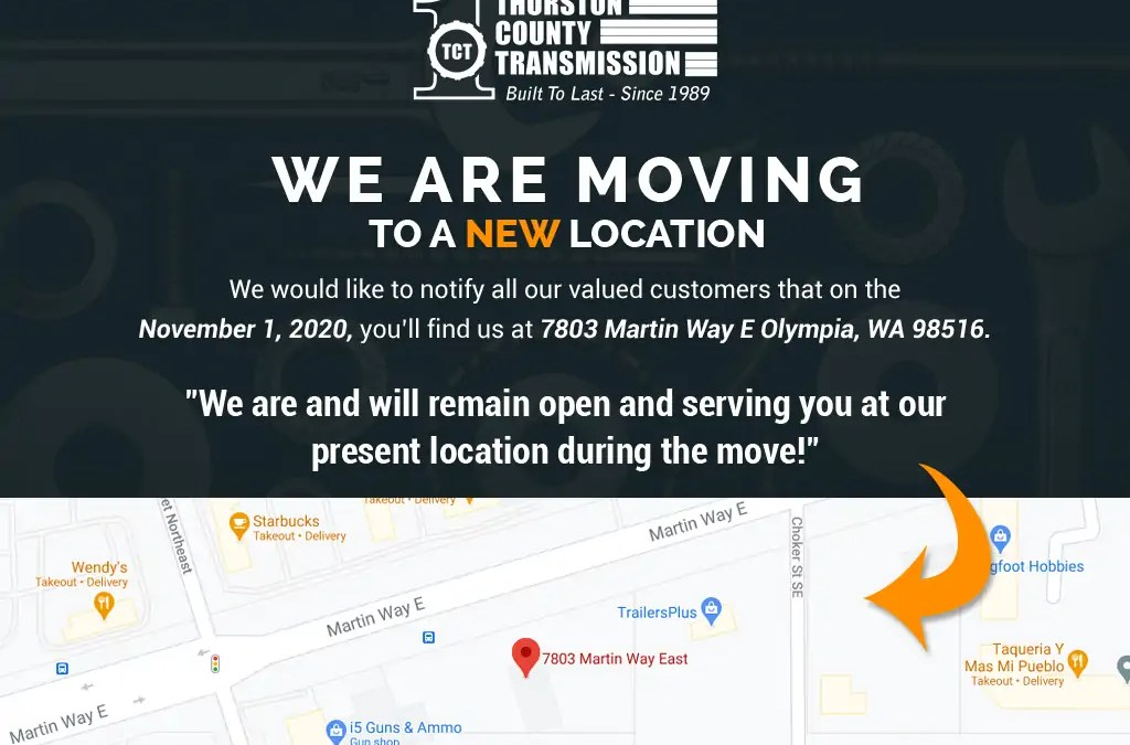 We're Open – And We're Moving!