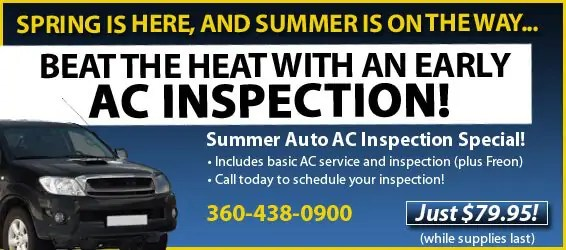 Summer Auto AC Inspection Special!