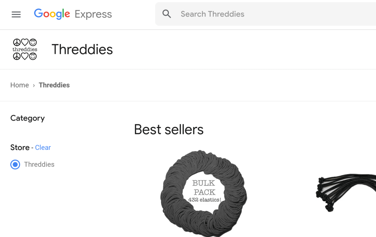 Threddies on Google Express