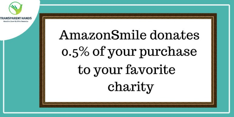 AmazonSmile donates 0.5% of your purchase to your favorite charity