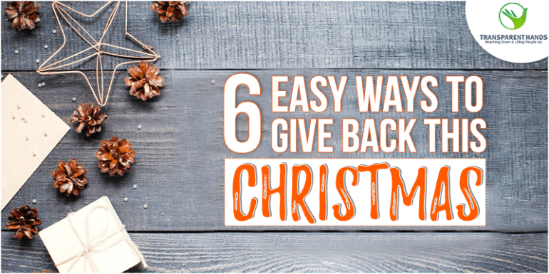 Six Easy Ways to Give Back This Christmas