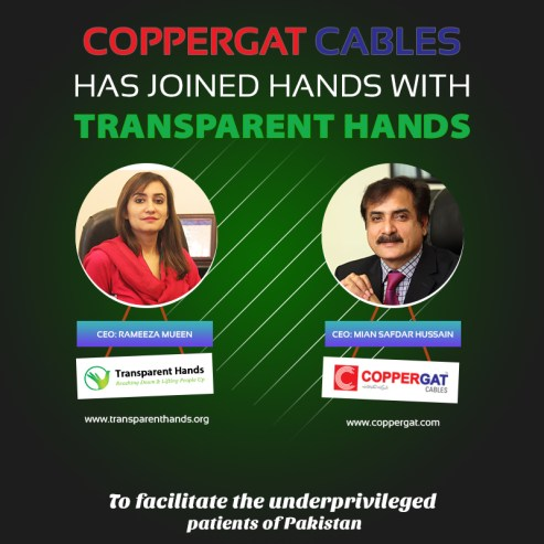 Transparent Hands collaborated with CopperGat Cables