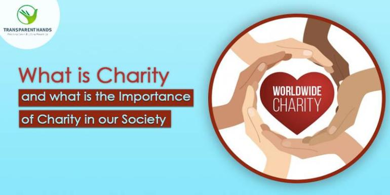 What is charity and what is the importance of charity in our Society