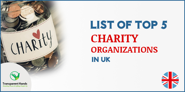 list of top 5 charity organizations in UK