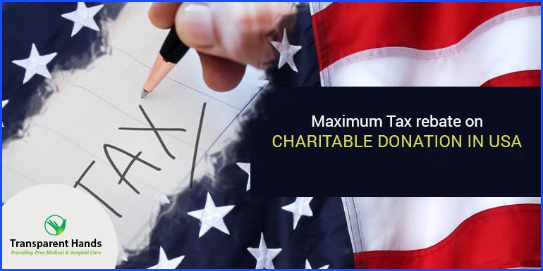 Maximum Tax Rebate on Charitable Donations in USA