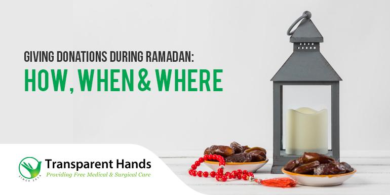 Giving Donations During Ramadan
