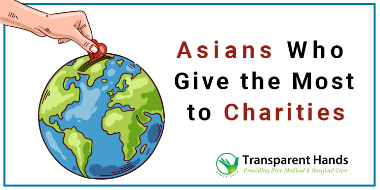 Asians Who Give the Most to Charities