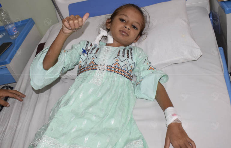 open heart surgery of Laiba