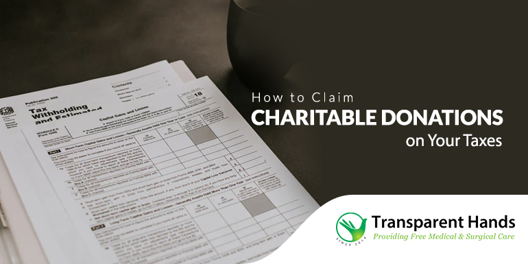 Claim Charitable Donations on Your Taxes