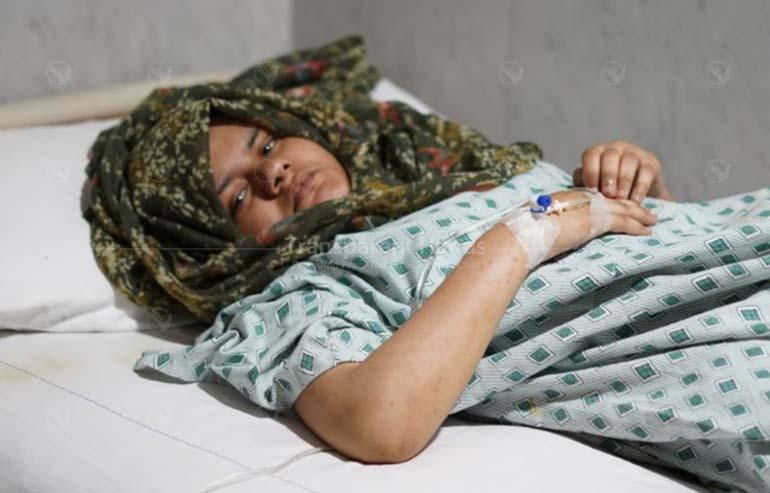 Amina had her colostomy