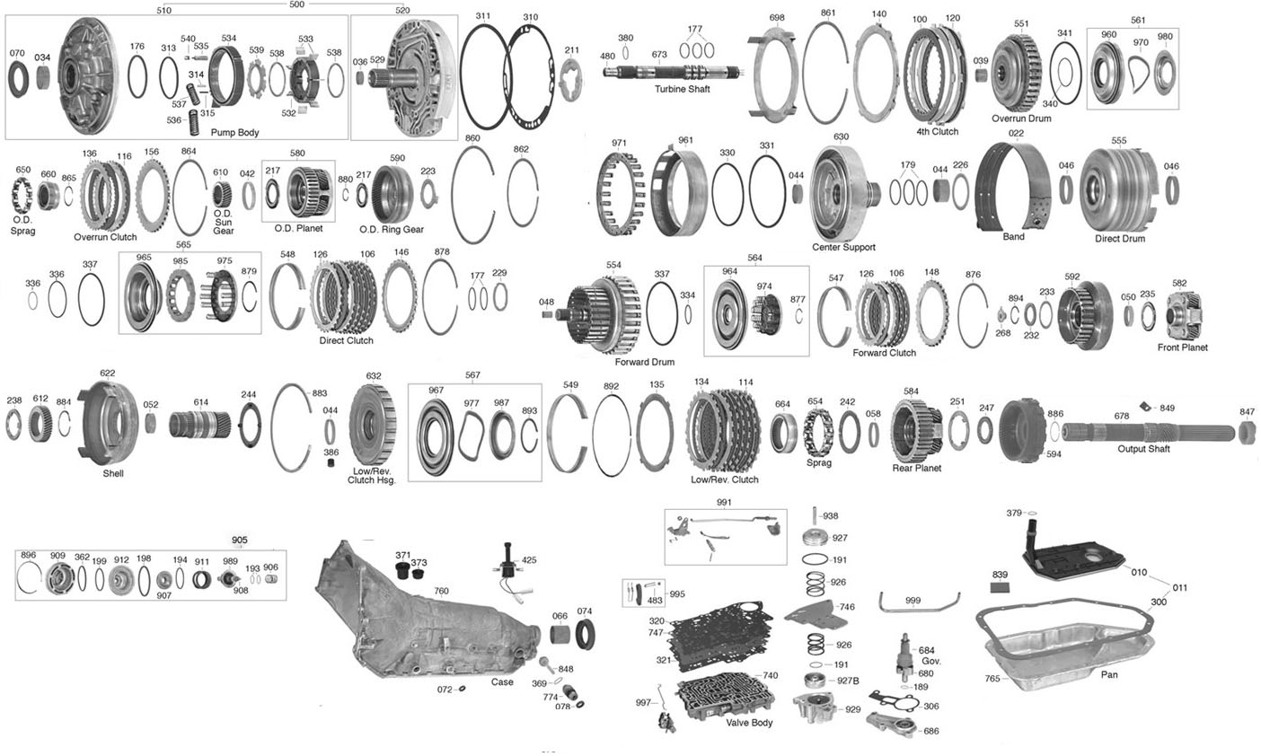 200 4r Transmission Diagram
