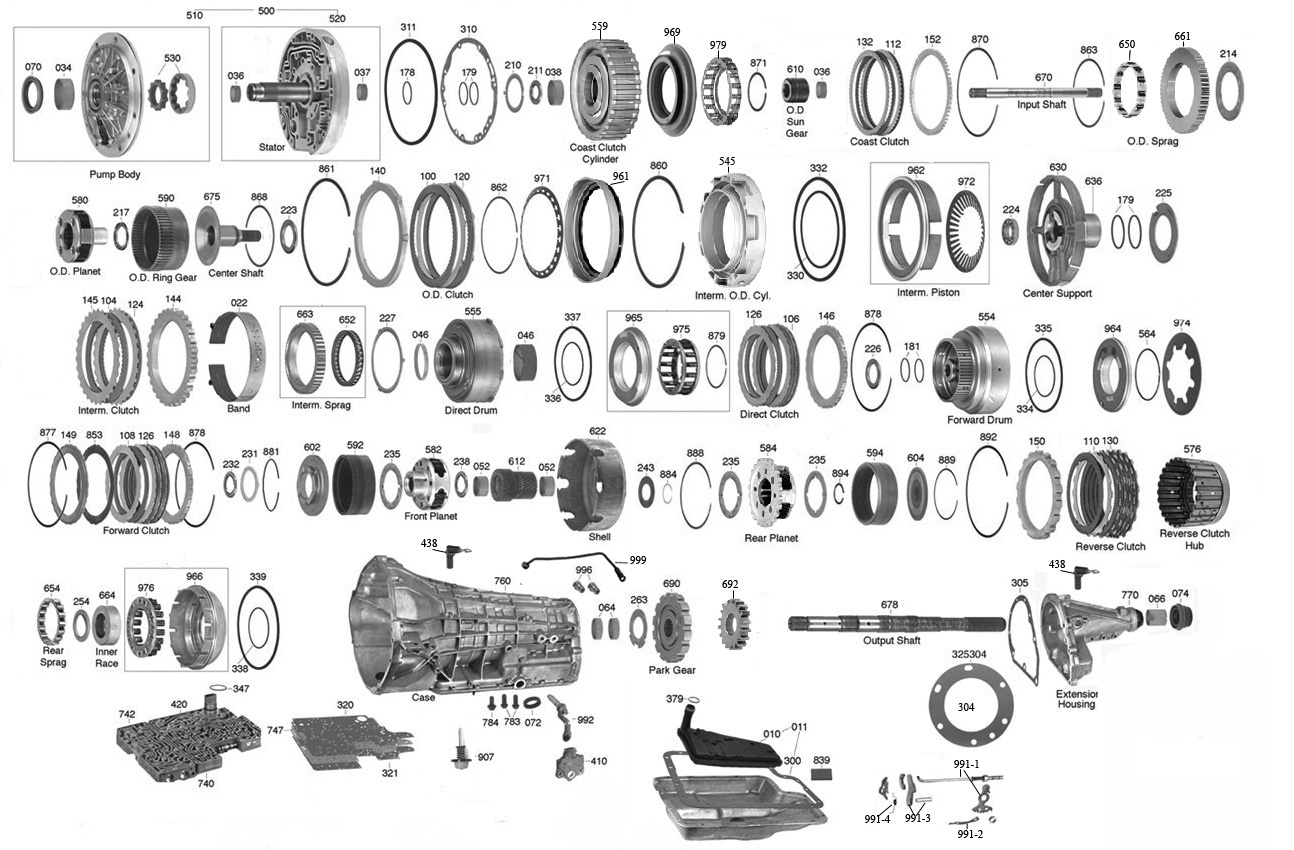 Ford E4od Transmission Diagram