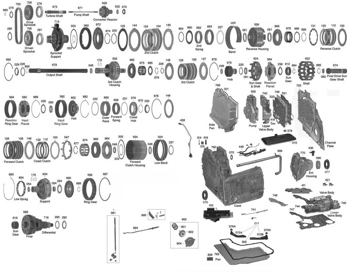 Exploded View Of Pontiac Aztek Manual Gearbox
