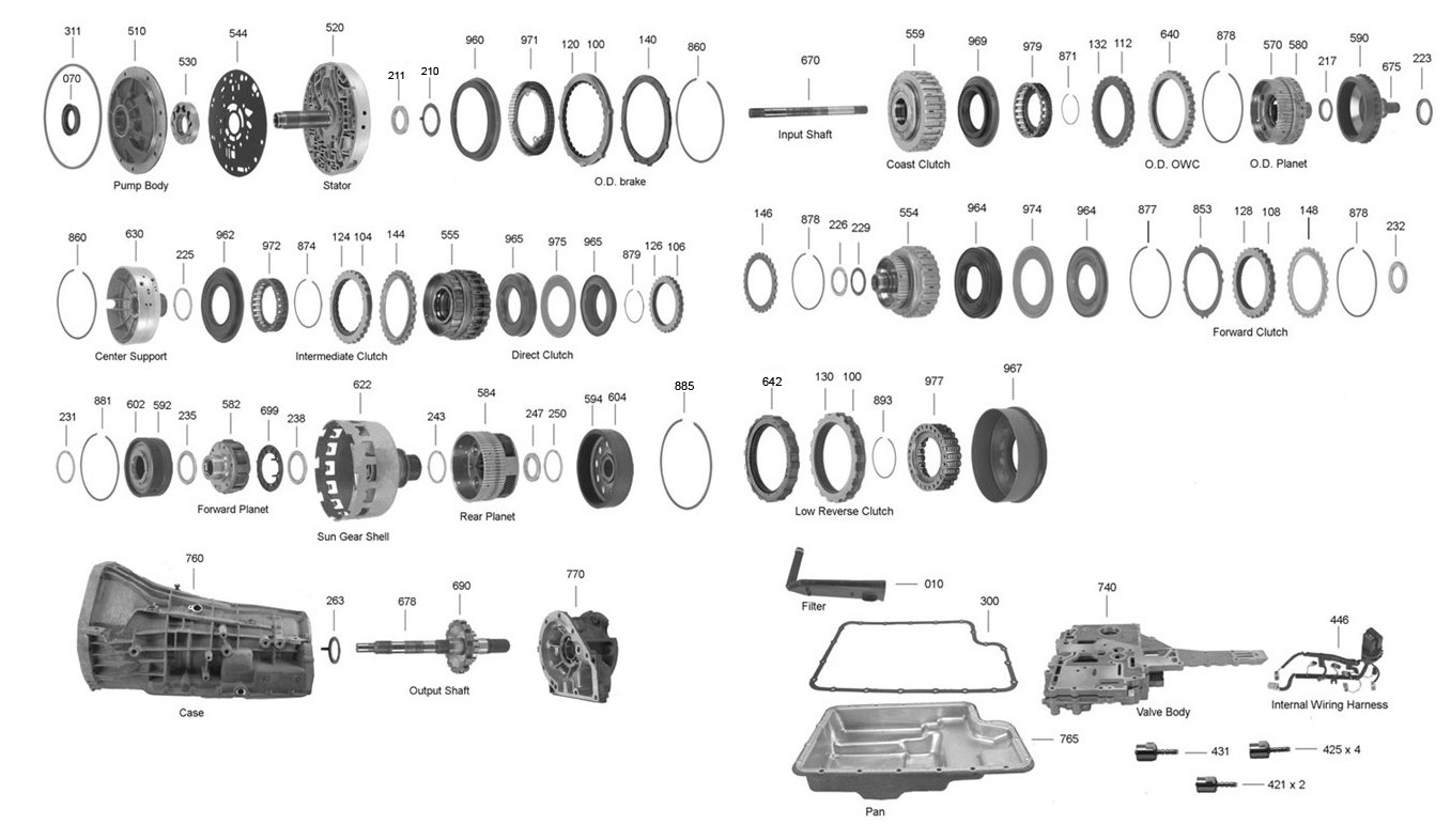 5r110 Transmission Parts Diagram Trans Parts Online