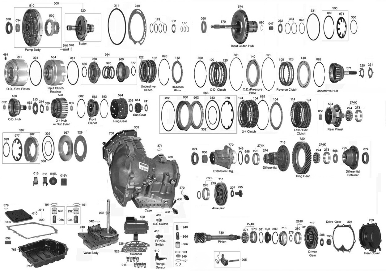 44re Transmission Diagram