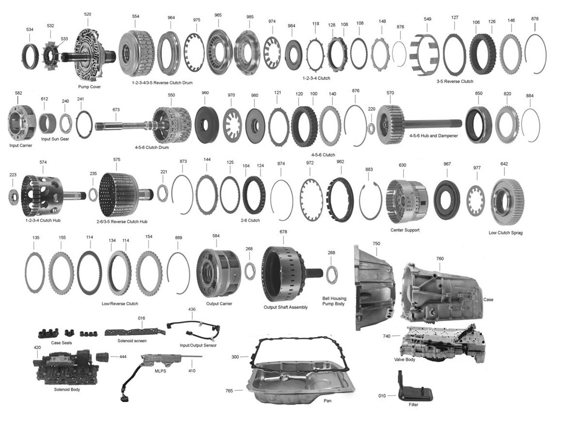 4l60e Transmission Exploded View Diagram Parts Wiring