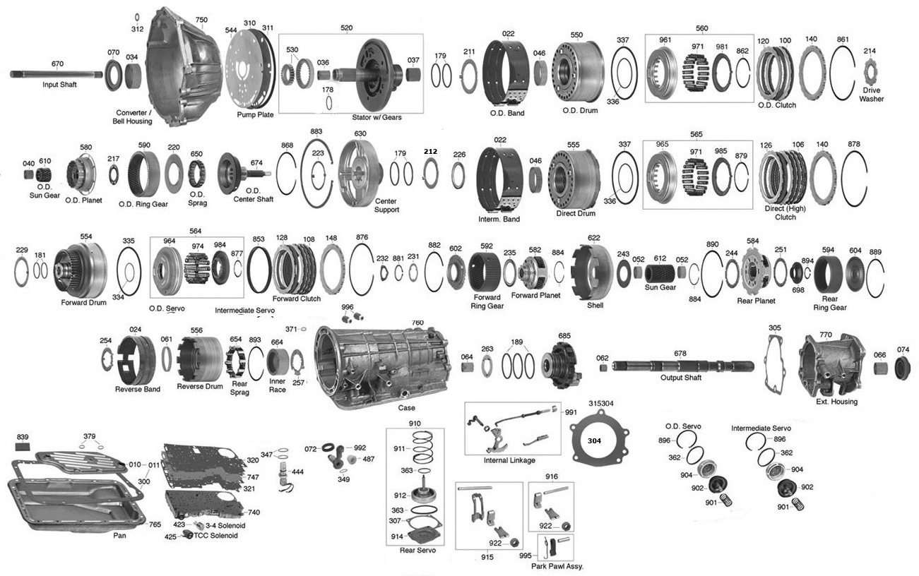 A4ld Automatic Transmission Diagrams