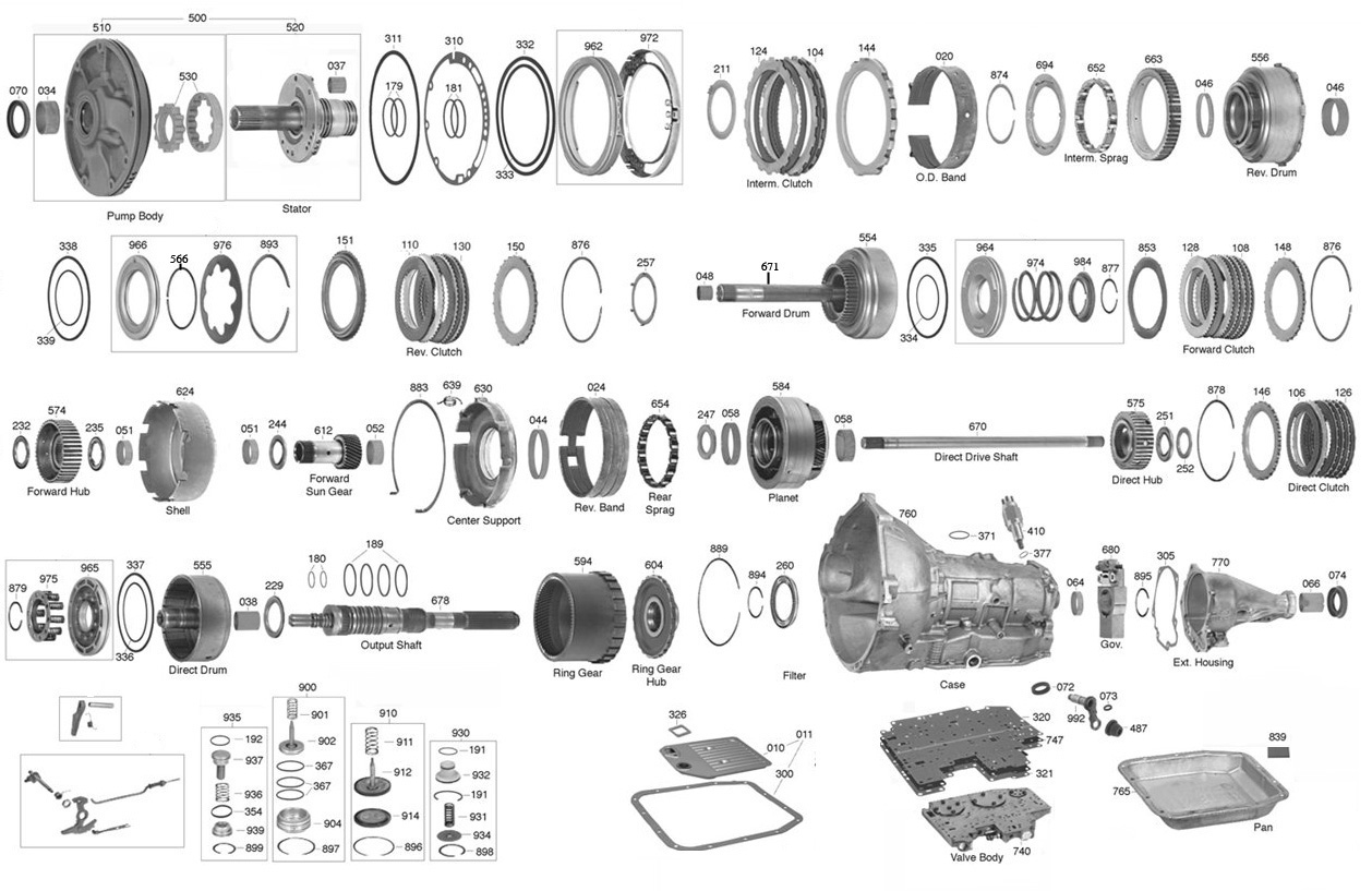 Ford Aod Transmission Parts Diagram