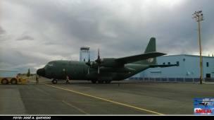 Avión de transporte pesado Lockheed C-130H Hércules de la FAM, matricula 3613.