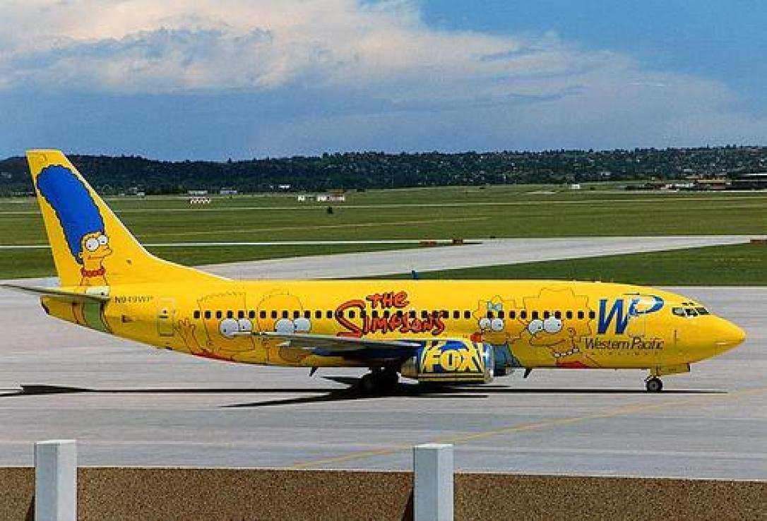Western Pacific Airlines 737-simpsons