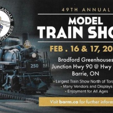 UPCOMING EVENT: 2019 Barrie-Allandale Model Train Show