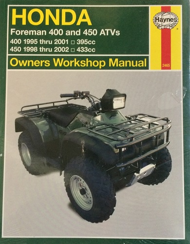 Honda Foreman 400 and 450 ATVs: 1995 thru 2002 - transportbooks com