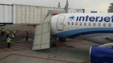 Photo of Avión de Interjet choca contra pasillo telescópico en el AICM