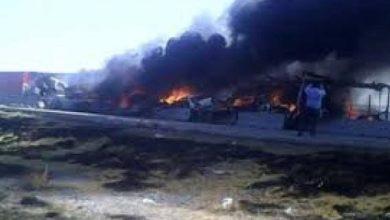 Photo of Explotan camionetas y camión que robaban combustible en la Puebla-Orizaba